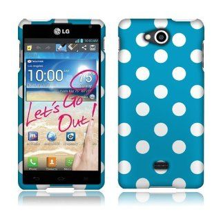 Lg Spirit 4g Ms870 Blue/white Dots Cover Cell Phones & Accessories