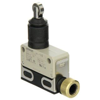 Omron D4E 1D20N Small Slim Sealed Limit Switch, General Purpose, Sealed Roller Plunger, Screw Terminals, 5A at 125VAC Rated Current