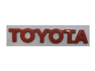 TOYOTA Red Size  15.5 cm. Emblem Auto Car Accessories By Chrome 3D Badge 3M Adhesive Automotive