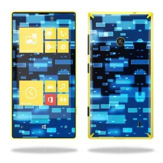 Protective Vinyl Skin Decal Cover for Nokia Lumia 520 Cell Phone T Mobile Sticker Skins Space Blocks Cell Phones & Accessories