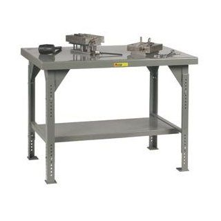 Little Giant® Heavy Duty 7 Gauge Steel Workbench, Adjustable, 30 X 48