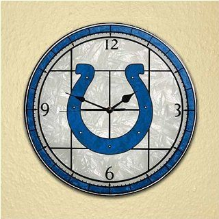 NFL Indianapolis Colts Art Glass Clock Sports & Outdoors