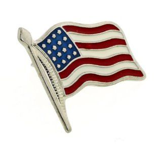 JJ Weston American Flag Stars and Stripes Tie Tac. Made in the USA JJ Weston Jewelry