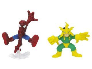 Marvel Super Hero Squad Action Figure 2 Pack   Spider Man and Electro Action Figures Toys & Games