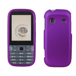 Samsung Gravity TXT T379 Protex Purple Rubber Feel Cell Phones & Accessories
