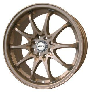 17x7 Maxxim Deadline (Bronze) Wheels/Rims 5x100/114.3 (DA77T04408) Automotive