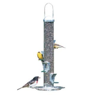 Perky Pet 112SCAN Deluxe Seed Silo Wild Bird Feeder with Tray  Woodstream Bird Tube Feeders  Patio, Lawn & Garden