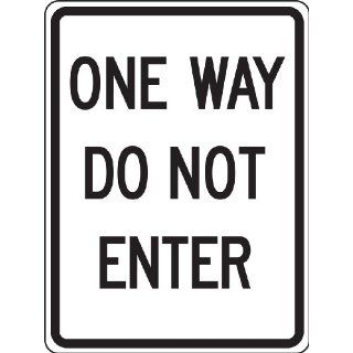 "Accuform Signs FRR124RA Engineer Grade Reflective Aluminum Facility Traffic Sign, Legend ""ONE WAY DO NOT ENTER"", 18"" Width x 24"" Length x 0.080"" Thickness, Black on White"