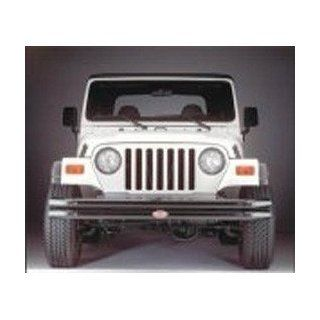 Olympic Maxi Front Bumper w/o Hoop Rubicon Black 1997 2006 Jeep Wrangler TJ, Unlimited # 377 124 Automotive