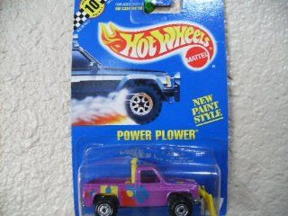 Hot Wheels Power Plower #127 All Blue Card Light Purple