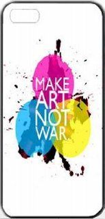 Make Art Not War Typography iPhone 4 Designer Case Cover Protector Cell Phones & Accessories