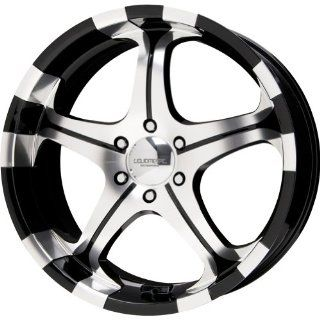 "Liquid Metal Flare Series Black Mirror Machined Wheel (22x9.5""/6x139.7mm) Automotive"