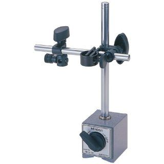 "Mitutoyo 7000 Series Magnetic Base, for 3/8"" and 6mm/8mm Stems, On/Off Switch, 132 Lbf Magnetic Pull Indicator Stands"