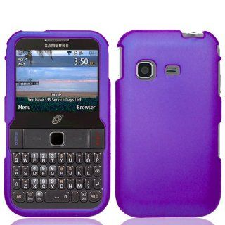 Combo Accessory for Samsung S390G Straight Talk Net 10 TracFone   Purple Rubberized Hard Case Protective Snap On Cover + SportDroid Transparent Decal Cell Phones & Accessories