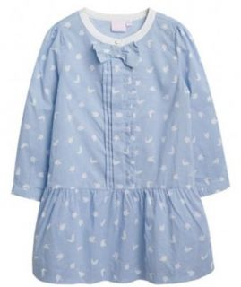 Richie House Girl's Light Blue Dress with Birds RH0578 4/5 Clothing