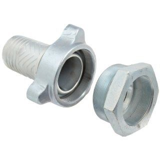 Dixon Boss GF Series Plated Iron Hose Fitting, GJ Boss Ground Joint Complete Seal, NPT Female x Hose ID Barbed