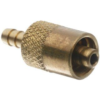 "Male Luer Lock Fitting to Tube Brass Tube ID 1/8"" .145"" Barb OD"