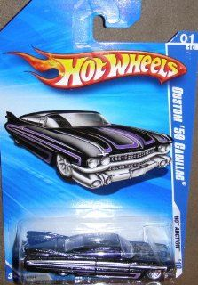 2010 HOT WHEELS 159/240 HOT AUCTION 01/10 BLACK WITH PURPLE CUSTOM '59 CADILLAC Toys & Games