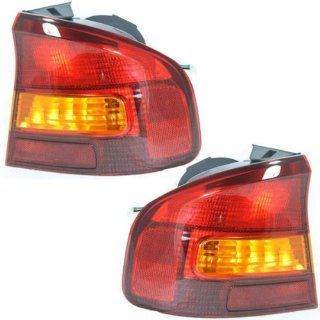 2000 2004 Subaru Legacy 4 Door Sedan GT, L, SE Taillight Taillamp Rear Brake Tail Light Lamp (Quarter Panel Outer Body Mounted) Pair Set Right Passenger AND Left Driver Side (00 2000 01 2001 02 2002 03 2003 04 2004) Automotive