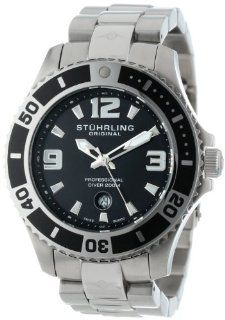 Stuhrling Original Men's 161B3.33111 Nautical Regatta Grand II Swiss Quartz Divers Date Stainless Steel Watch Watches