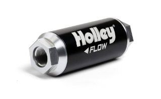 Holley 162 571 HP  12AN Inlet / Outlet 40 Micron 260 GPH Billet Fuel Filter Automotive