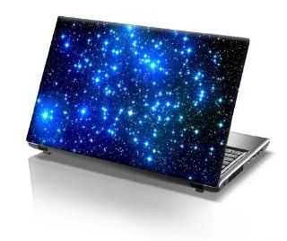 TaylorHe 15.6 inch 15 inch Laptop Skin Vinyl Decal with Colorful Patterns and Leather Effect Laminate MADE IN BRITAIN Blue Stars in Space Computers & Accessories
