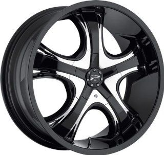 PLATINUM   type 415/416 patriarch   22 Inch Rim x 9   (5x4.75/5x4.5) Offset (32) Wheel Finish   gloss black with chrome inserts Automotive