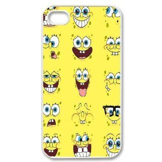 Personalized Cartoon SpongeBob SquarePants Protective Snap on Cover Case for iPhone 4/4S SS173 Cell Phones & Accessories