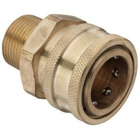 Dixon STMC Series Brass Hydraulic Quick Connect Fitting, Coupling x Straight