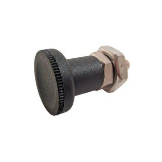 GN 607 NI Series Stainless Steel Non Lock Out Type Short Indexing Plunger, with Lock Nut, M16 x 1.5mm Thread Size, 12mm Thread Length