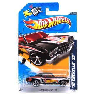 Hot Wheels   '70 Chevelle SS (Black)   HW Racing 12   2/10 ~ 172/247 [Scale 164] Toys & Games