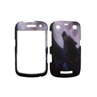 BLACKBERRY CURVE 9350 / 9360 HOWLING WOLF HARD PROTECTOR SNAP ON COVER CASE Cell Phones & Accessories