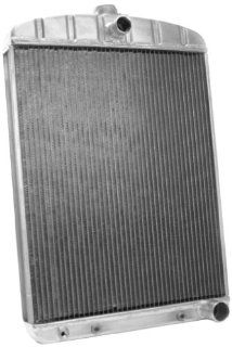 "Griffin Radiator 1 181DF AAX Rat Rod Silver 16"" Wide x 22"" Thick Universal Radiator Automotive"