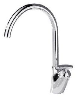 Delta 182 Urban Verona Single Hole/Handle Kitchen Sink Faucet, Polished Chrome