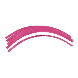 32cm Long Fuchsia Adhesive Back Motorcycle Stripe Wheel Rim Stickers 16pcs Automotive