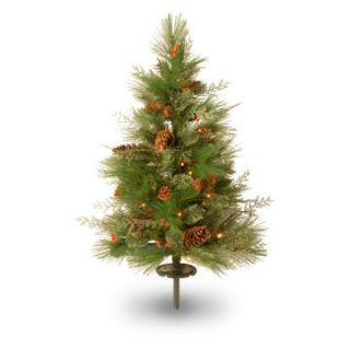 2.5 ft. Decorative Collection White Pine Pathway Pre Lit LED Christmas Tree   Battery Operated   Christmas Trees