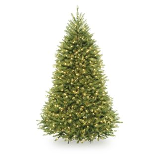 7.5 ft. Dunhill Fir Hinged Pre Lit LED Christmas Tree   Christmas Trees