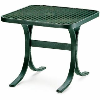 Telescope Casual 22 in. Square Perforated Top End Table   Patio Tables
