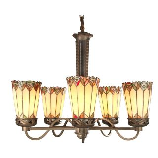 Dale Tiffany Alvarez Tiffany Chandelier   27 watt in. Antique Bronze Paint   Tiffany Ceiling Lighting