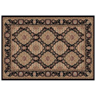 Dynamic Rugs Radiance Collection 47 x 24 Hearth Rug Black Mosaic   Hearth Rugs
