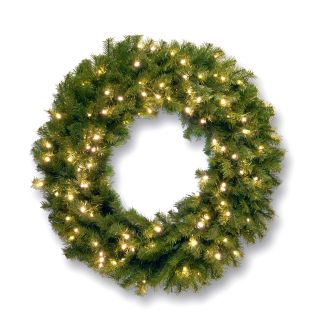48 in. Norwood Fir Pre lit LED Wreath   Christmas Wreaths