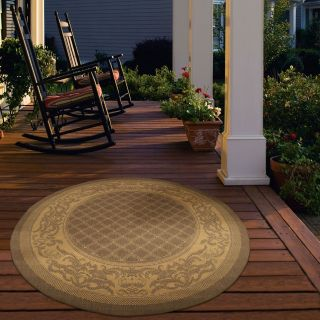 Couristan Recife Garden Lattice Indoor/Outdoor Area Rug   Cocoa/Natural   Area Rugs