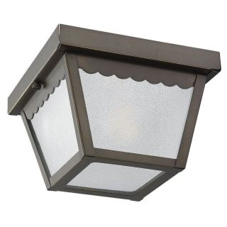 Sea Gull Outdoor 75467 Ceiling Light   5.25H in. Antique Bronze   Outdoor Ceiling Lights