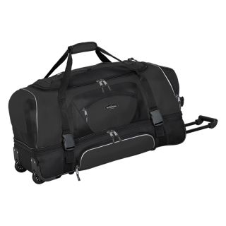 Travelers Club 30 in. 2 Section Drop Bottom Rolling Duffel Bag   Black   Sports & Duffel Bags