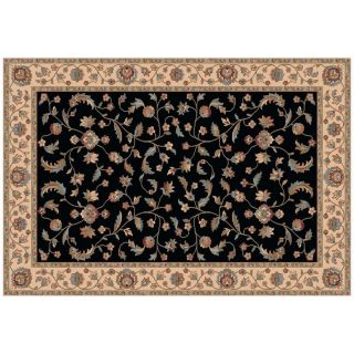 Dynamic Rugs Radiance Collection 47 x 24 Hearth Rug Black Arcadia   Hearth Rugs