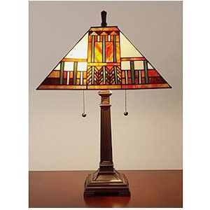 Tiffany and Mission Style Table Lamp   Tiffany Table Lamps