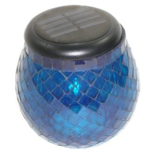 Smart Solar Glass Light   Cobalt Blue   Solar Lights