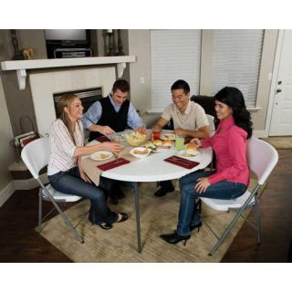 Lifetime 48 in. Round Fold in Half Folding Table   Banquet Tables