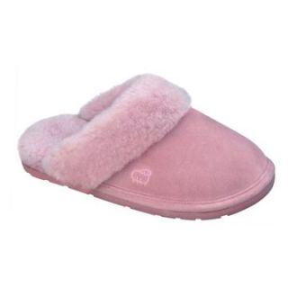 Lamo Womens Scuff Slippers   Pink Suede   Womens Slippers
