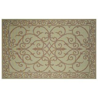 Trans Ocean Terrace Wrought Iron Indoor/Outdoor Rug   Aqua   Area Rugs